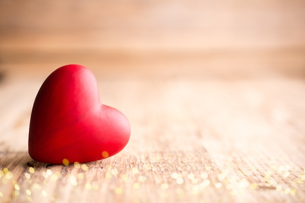 Rood hart valentijnsdag wenskaart.