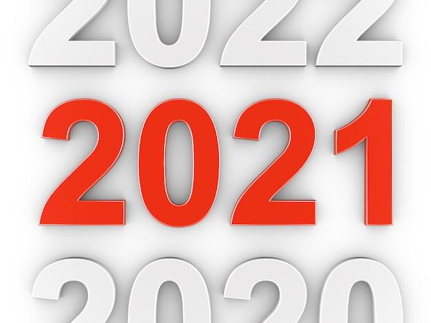 Rood nummer 2021. nieuwjaar concept