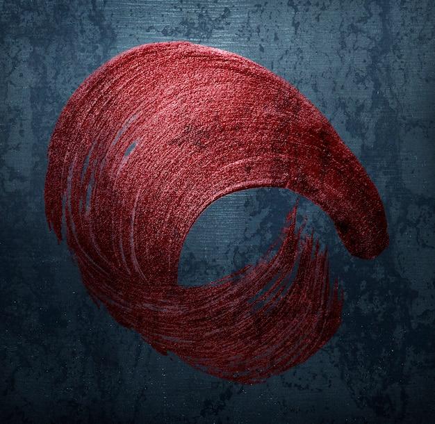 Rood penseelstreek-embleem