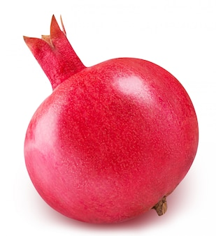 Rood rijp geïsoleerd granaatappelfruit