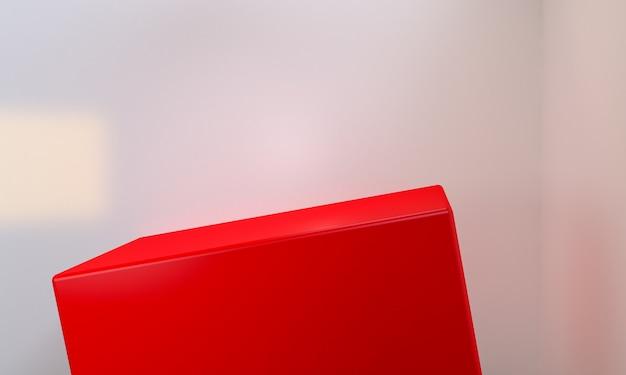 Rood vak geometrische vormscène minimaal