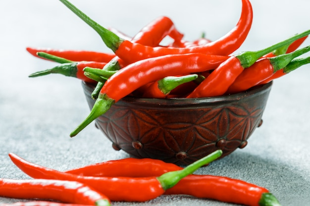 Roodgloeiende chili peper pod