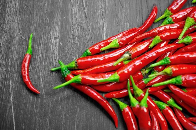 Roodgloeiende pepers