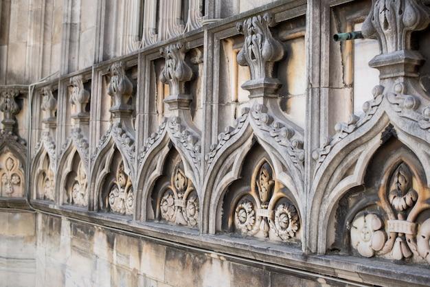 Rooftop van duomo kathedraal, milaan.