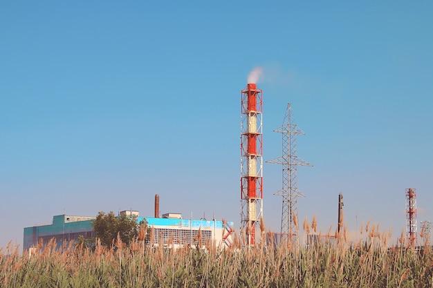 Rook industriële schoorsteen