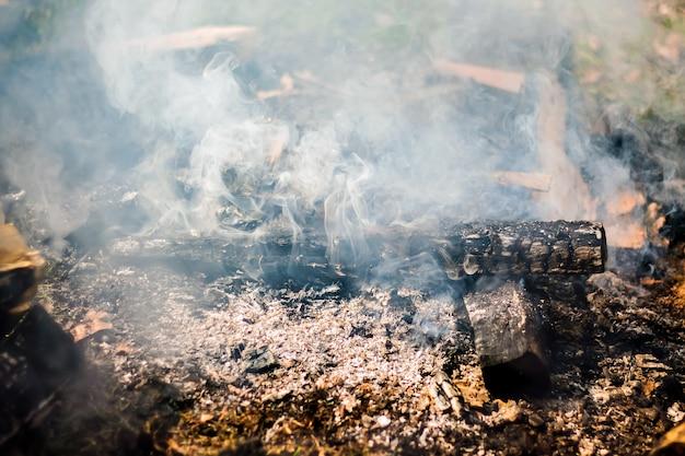 Rook uit de haard. rookstructuur voor ontwerpprojecten