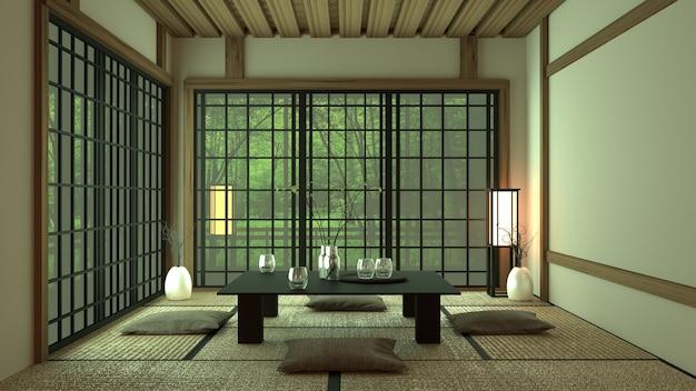 Room design in japanse stijl