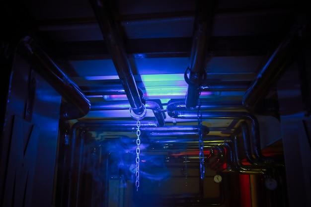 Room vrees zoektocht lichteffecten pijpleiding