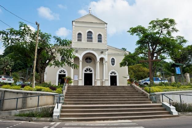 Rooms-katholieke kathedraal van de onbevlekte ontvangenis in victoria, mahe, seychellen