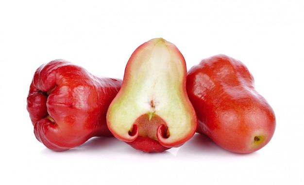 Rose appels geïsoleerd