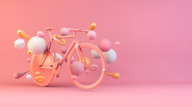 Rosé gouden fiets