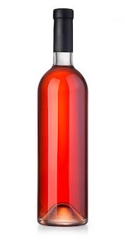 Rose wijnfles geïsoleerd op wit