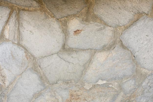 Rotsen en stenen in beton