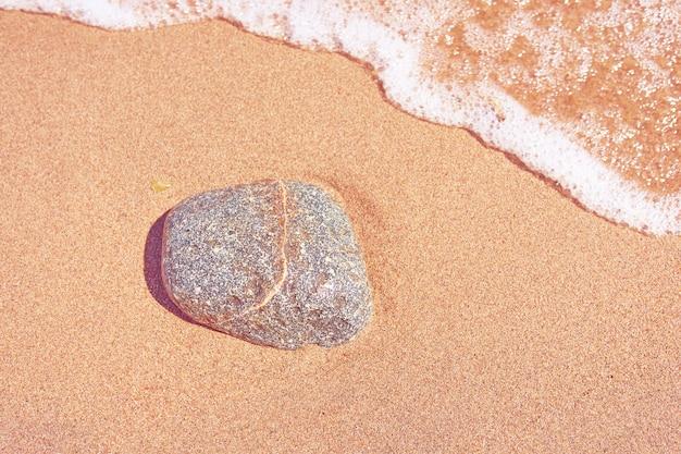 Rotsen op het zand.