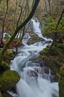 Route van de rivier de valga in de provincie pontevedra in galicië