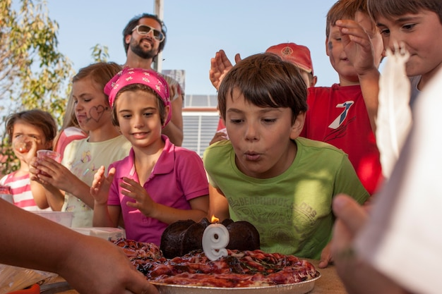 Rovigo, itali 19 februari 2020: kinderverjaardagsfeestje