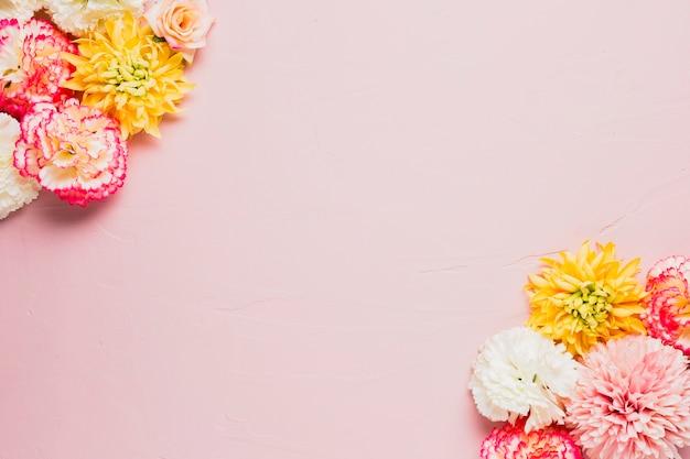 Roze achtergrond met kopie ruimte