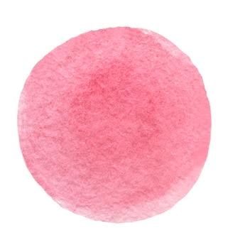 .roze aquarel cirkel. handgetekende aquarel penseelstreek of vlek