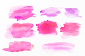 Roze aquarel slagen