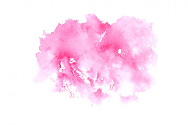 Roze aquarel vlek penseelstreek achtergrond