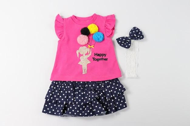 Roze babykleertjes