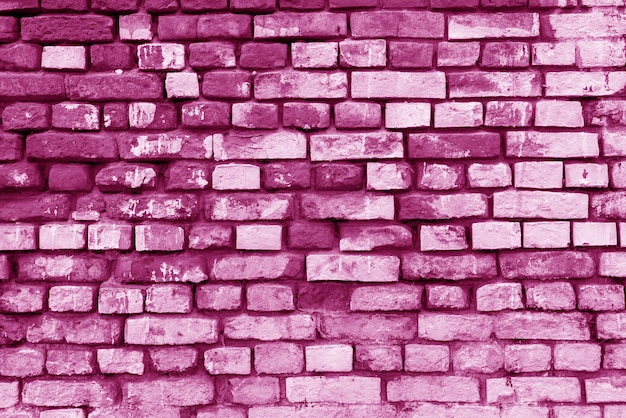 Roze bakstenen gebouw muur. interieur van een moderne loft. achtergrond voor ontwerp