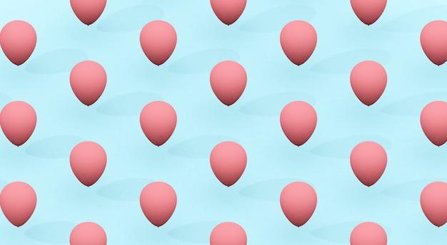 Roze ballonnen patroon