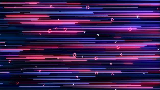 Roze-blauwe neon geanimeerde vj-muur