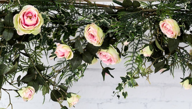 Roze bloem, mooie plastic roze bloem