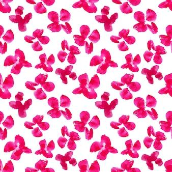 Roze bloemen aquarel schilderij