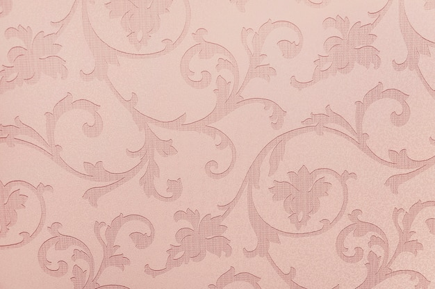 Roze bloemenbehangtextuur als achtergrond