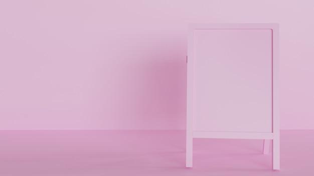 Roze bord voor reclame product