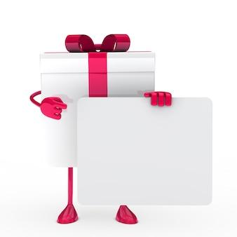 Roze cadeau met een poster