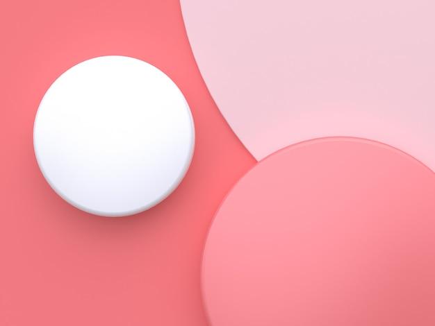 Roze cirkel hoek roze abstracte 3d-rendering