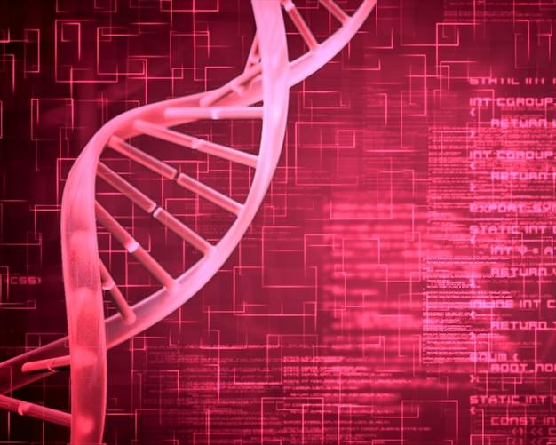 Roze dna-helix achtergrondvierkanten
