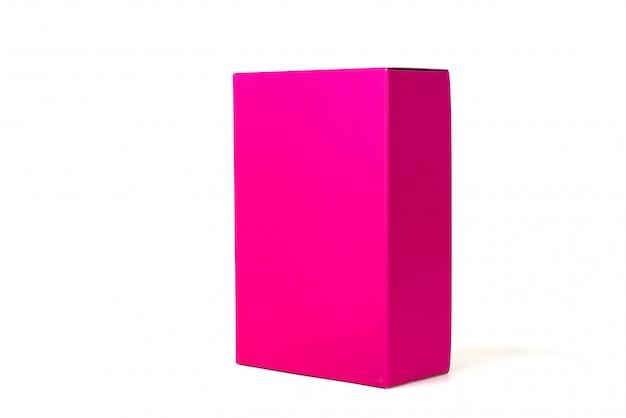 Roze doos of groen papier pakket box