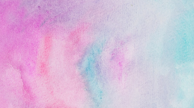 Roze en aquamarijn mix van verven op papier
