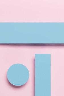 Roze en blauwe kast