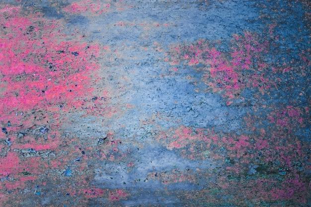 Roze en blauwe oude metaalachtergrond
