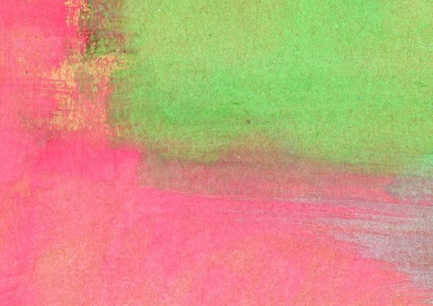 Roze en groene aquarel textuur
