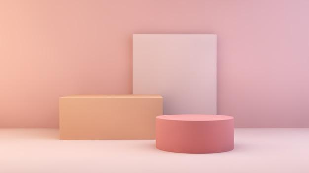 Roze en oranje storefront