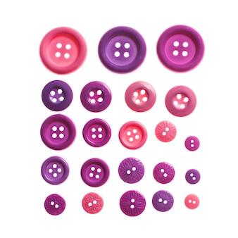 Roze en paarse knoppen geïsoleerd op wit