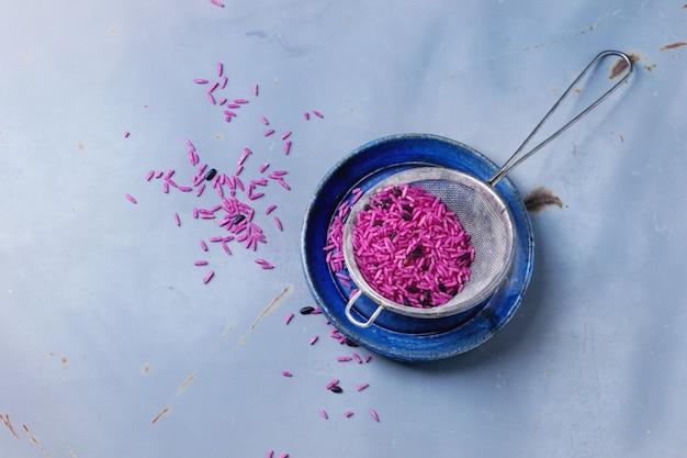 Roze en zwarte rijst