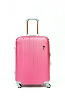 Roze geïsoleerde reisrolbagage