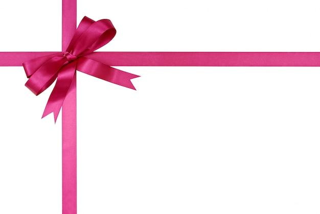 Roze geschenk lint en boog