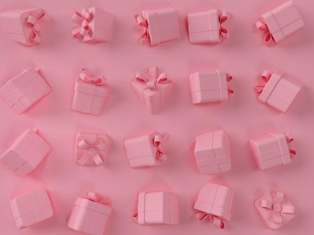 Roze geschenkdoos scène