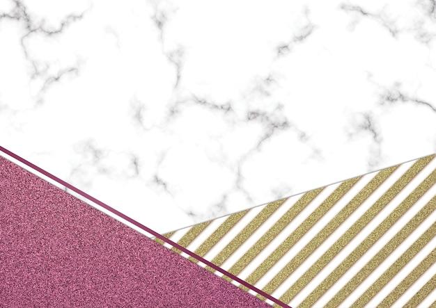 Roze glitter marmer blackground, shimmer glitter textuur, sjabloon presentatie