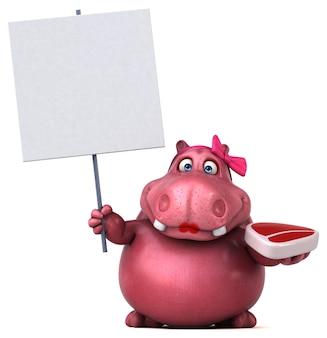 Roze hippo illustratie