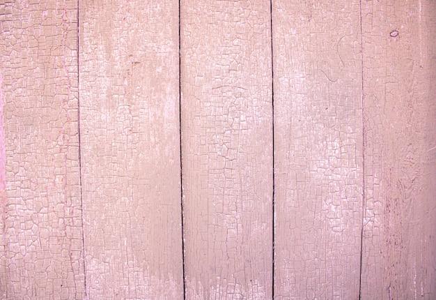 Roze houtstructuur achtergrond bovenaanzicht afbladderende verf