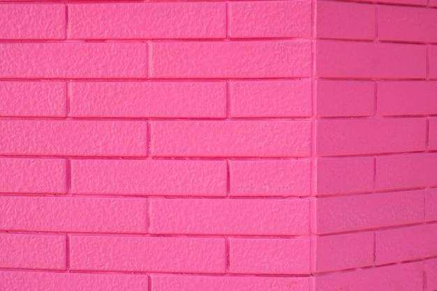 Roze kleuren bakstenen muur textuur voor grafische achtergrondafbeeldingen